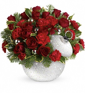 Teleflora's Shimmering Snow Bouquet in San Diego CA, Eden Flowers & Gifts Inc.
