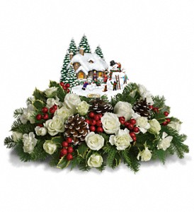 Thomas kinkades snow time by teleflora in colorado springs co t12x210a t12x210b deluxe mightylinksfo