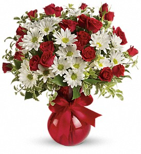 Red White And You Bouquet by Teleflora in Murrieta CA, Michael's Flower Girl