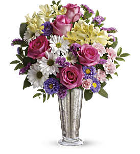 Smile And Shine Bouquet by Teleflora in Burnaby BC, Lotus Flower & Terra Plants