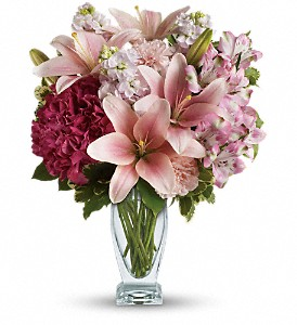 Teleflora's Blush Of Love Bouquet in Houston TX, Blackshear's Florist