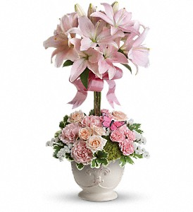 Teleflora's Blushing Lilies in Woodbridge NJ, Floral Expressions