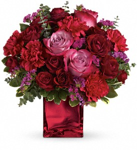 Teleflora's Ruby Rapture Bouquet in DeKalb IL, Glidden Campus Florist & Greenhouse