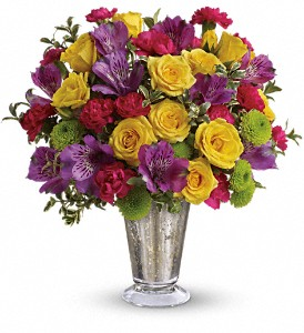 Teleflora's Fancy That Bouquet in Muncy PA, Rose Wood Flowers