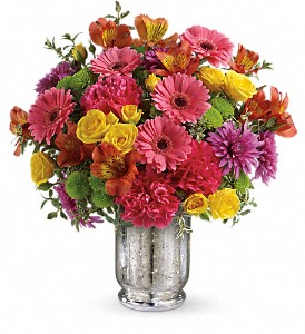 Teleflora's Pleased As Punch Bouquet in DeKalb IL, Glidden Campus Florist & Greenhouse