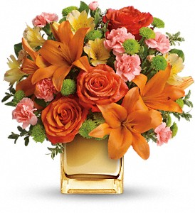 Teleflora's Tropical Punch Bouquet in Schenectady NY, Felthousen's Florist & Greenhouse