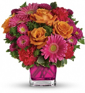 Teleflora's Turn Up The Pink Bouquet in New Hope PA, The Pod Shop Flowers