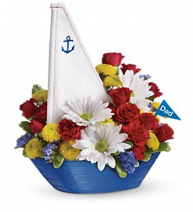 Teleflora's Anchors Aweigh Bouquet in Orlando FL, Harry's Famous Flowers