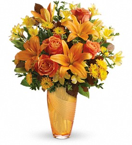 Teleflora's Amber Elegance Bouquet in Oklahoma City OK, Array of Flowers & Gifts