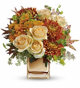 Teleflora's Autumn Romance Bouquet in San Jose CA, Rosies & Posies Downtown