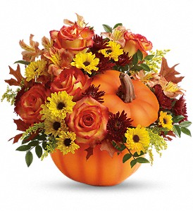 Teleflora's Warm Fall Wishes Bouquet in Muskegon MI, Lefleur Shoppe