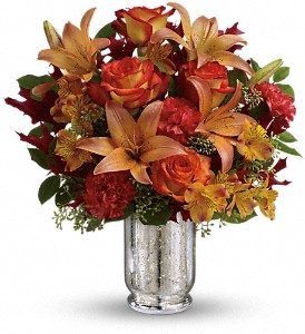 Teleflora's Fall Blush Bouquet in Oklahoma City OK, Array of Flowers & Gifts
