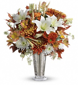 Teleflora's Harvest Splendor Bouquet in Kent OH, Richards Flower Shop