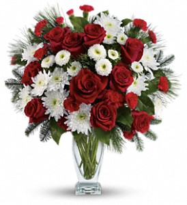 Teleflora's Winter Kisses Bouquet in Mississauga ON, Mums Flowers