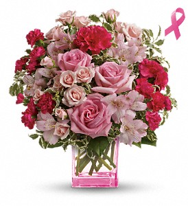 Teleflora's Pink Grace Bouquet in Oklahoma City OK, Array of Flowers & Gifts