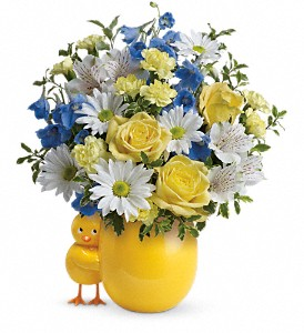 Teleflora's Sweet Peep Bouquet - Baby Blue in Big Rapids MI, Patterson's Flowers, Inc.