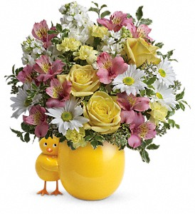 Teleflora's Sweet Peep Bouquet - Baby Pink in Rochester NY, Red Rose Florist & Gift Shop
