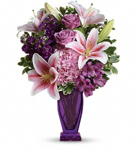 Teleflora's Blushing Violet Bouquet in Stephens City VA, The Flower Center