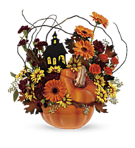 Teleflora's Haunted House Bouquet in Holladay UT, Brown Floral