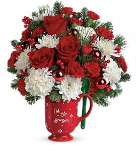Teleflora's Merry Mug Bouquet in Anchorage AK, Flowers By June