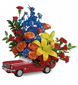 Living The Dream '65 Ford Mustang by Teleflora in Murrieta CA, Michael's Flower Girl