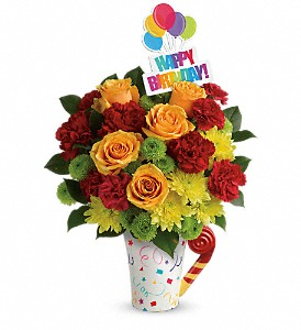 Teleflora's Fun 'n Festive Bouquet in Royersford PA, Three Peas In A Pod Florist
