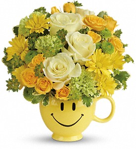 Teleflora's You Make Me Smile Bouquet in Tacoma WA, Grassi's Flowers & Gifts