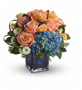 Teleflora's Modern Blush Bouquet in San Bruno CA, San Bruno Flower Fashions