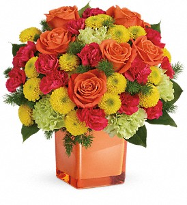 Teleflora's Citrus Smiles Bouquet in Sequim WA, Sofie's Florist Inc.