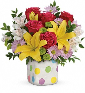 Teleflora's Delightful Dots Bouquet in Auburn IN, The Sprinkling Can
