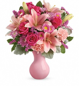 Teleflora's Lush Blush Bouquet in Olean NY, Mandy's Flowers