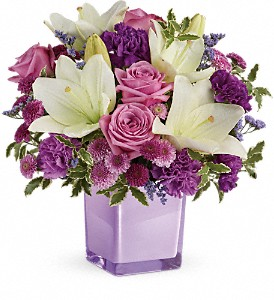 Teleflora's Pleasing Purple Bouquet in Spring TX, A Yellow Rose Floral Boutique