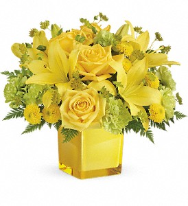 Teleflora's Sunny Mood Bouquet in Owasso OK, Heather's Flowers & Gifts