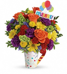 Teleflora's Celebrate You Bouquet in Rochester NY, Red Rose Florist & Gift Shop