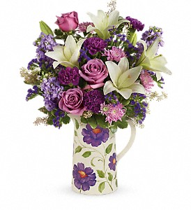 Teleflora's Garden Pitcher Bouquet in Edmonton AB, Petals For Less Ltd.