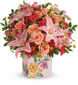 Teleflora's Brushed With Blossoms Bouquet in Wintersville OH, Thompson Country Florist
