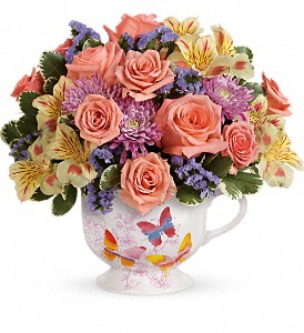 Teleflora's Butterfly Sunrise Bouquet in Springfield OH, Netts Floral Company and Greenhouse