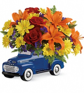 Vintage Ford Pickup Bouquet by Teleflora in Bismarck ND, Ken's Flower Shop
