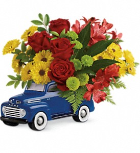 Glory Days Ford Pickup by Teleflora in Park Ridge IL, High Style Flowers