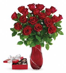 Wrapped In Roses Bouquet with chocolates in Salt Lake City UT, Especially For You