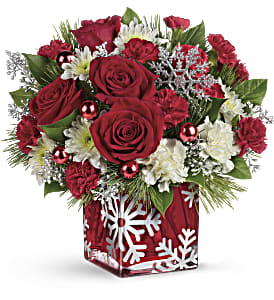 Teleflora's Silver Christmas Bouquet in Lawrence KS, Englewood Florist