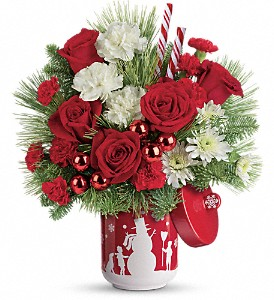 Teleflora's Snow Day Bouquet in Bloomington IL, Beck's Family Florist