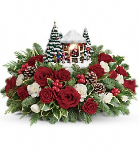 Thomas Kinkade's Jolly Santa Bouquet in Kelowna BC, Creations By Mom & Me