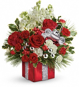 Teleflora's Wrapped In Joy Bouquet in Maynard MA, The Flower Pot