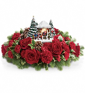 Thomas Kinkade's Visiting Santa Bouquet in West Bend WI, Bits N Pieces Floral Ltd