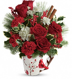 Send a Hug Wings Of  Winter by Teleflora in Belford NJ, Flower Power Florist & Gifts