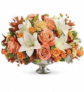 Teleflora's Harvest Shimmer Centerpiece in McHenry IL, Locker's Flowers, Greenhouse & Gifts