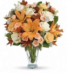 Teleflora's Seasonal Sophistication Bouquet in Oklahoma City OK, Array of Flowers & Gifts
