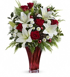Teleflora's Wondrous Winter Bouquet in Rochester NY, Red Rose Florist & Gift Shop