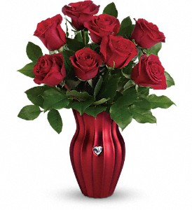 Teleflora's Heart Of A Rose Bouquet in Rochester NY, Red Rose Florist & Gift Shop